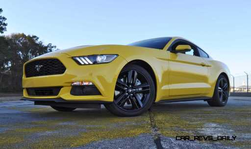 HD Road Test Review - 2015 Ford Mustang EcoBoost in Triple Yellow with Performance Pack 182
