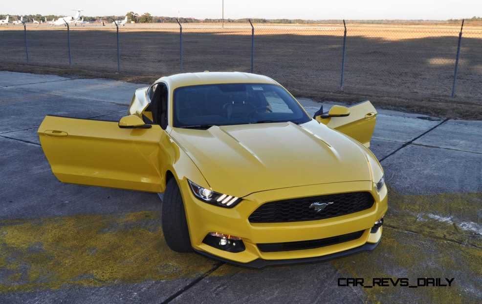 HD Road Test Review - 2015 Ford Mustang EcoBoost in Triple Yellow with Performance Pack 194