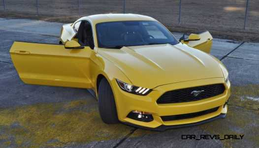 HD Road Test Review - 2015 Ford Mustang EcoBoost in Triple Yellow with Performance Pack 195