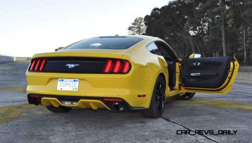 HD Road Test Review - 2015 Ford Mustang EcoBoost in Triple Yellow with Performance Pack 207