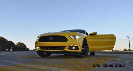 HD Road Test Review - 2015 Ford Mustang EcoBoost in Triple Yellow with Performance Pack 225