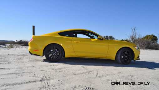HD Road Test Review - 2015 Ford Mustang EcoBoost in Triple Yellow with Performance Pack 84