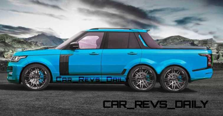 Digital Renderings - StarTech Range Rover 6x6 Long-Box Pickup Truck - 2 Angles + 30 Colors 11 copy