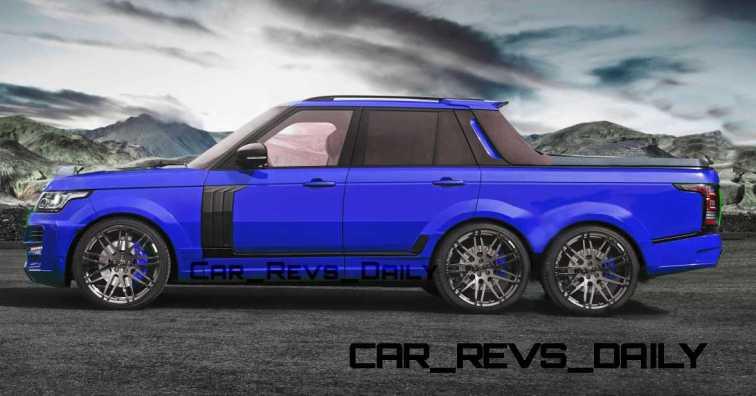 Digital Renderings - StarTech Range Rover 6x6 Long-Box Pickup Truck - 2 Angles + 30 Colors 12 copy