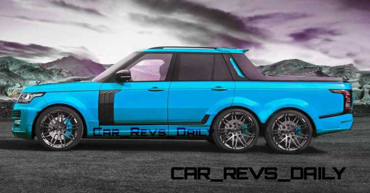 Digital Renderings - StarTech Range Rover 6x6 Long-Box Pickup Truck - 2 Angles + 30 Colors 4 copy