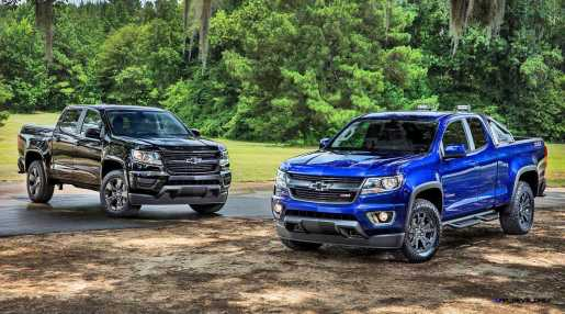 (L to R) 2016 Chevrolet Colorado Midnight Edition and Trail Boss