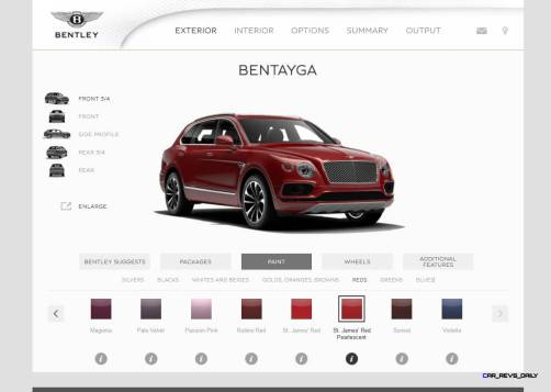 Bentayga Color Samples 2