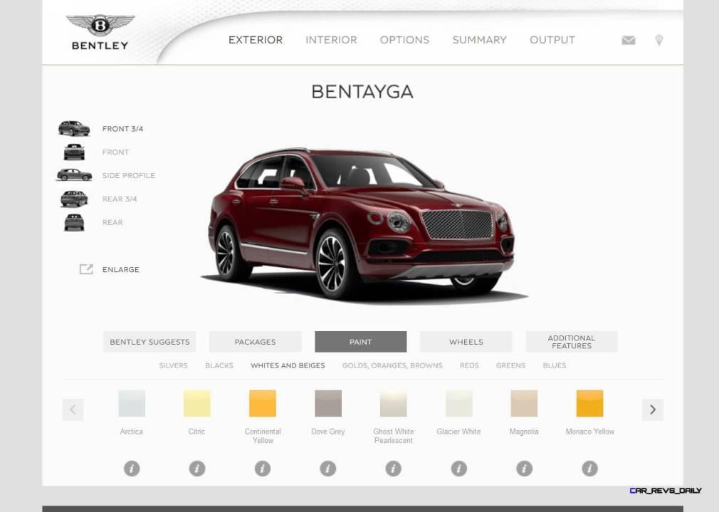 Bentayga Color Samples 4