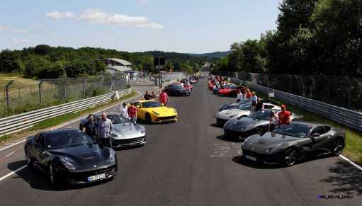 Ferrari Car Cavalcade 2015 Nurburgring 1