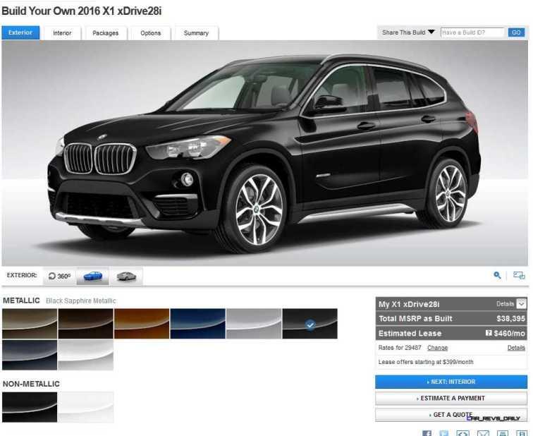2016 BMW X1 Colors 3