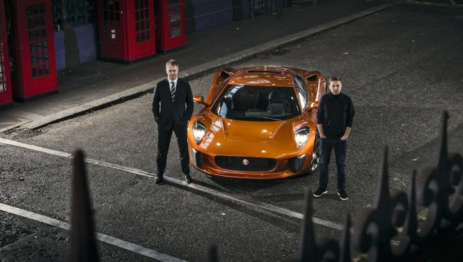 SPECTRE driver Martin Ivanov to drive the Jaguar C-X75 in its first public appearance at the Lord Mayors Show on November 14th 2015 with Dominic Reid OBE Pagentmaster.