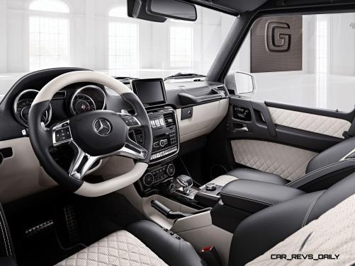 Mercedes-Benz G-Klasse, designo manufaktur, Interieur: designo Leder Porzellan/schwarz Mercedes-Benz G-Klasse, designo manufaktur, interior: designo leather porcelain/black