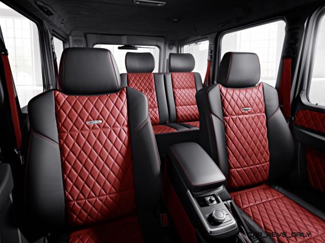 Mercedes-Benz G-Klasse, designo manufaktur, Interieur: designo Leder classicrot/schwarz Mercedes-Benz G-Klasse, designo manufaktur, interior: designo leather classic red/black