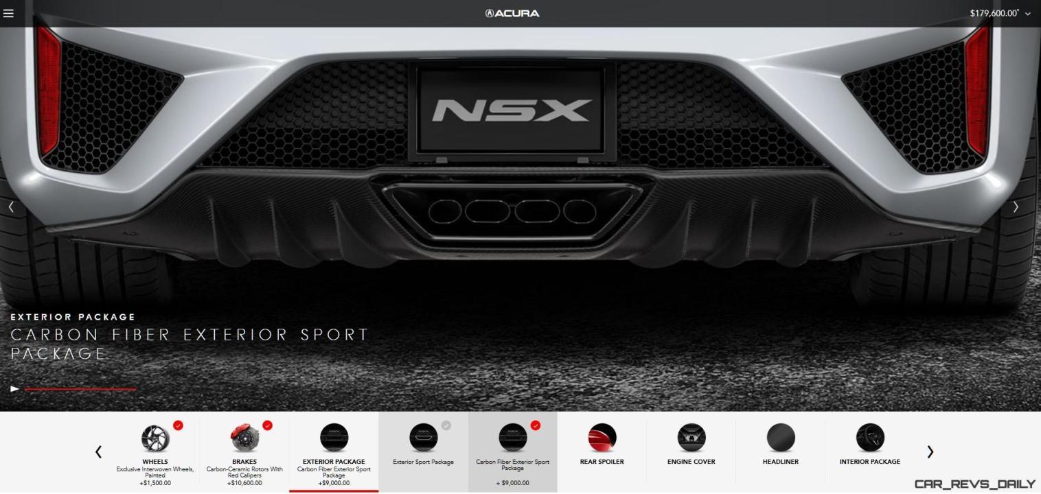 2017 NSX Configurator 17