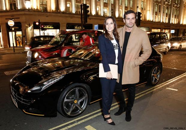 Lucy Watson and James Dunmore 3 at the UK launch of the Ferrari 488 Spider at the Watches of Switzerland store, London