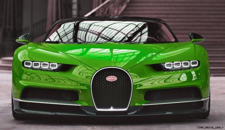 2017 Bugatti CHIRON - Color Visualizer - Draft Renderings 10