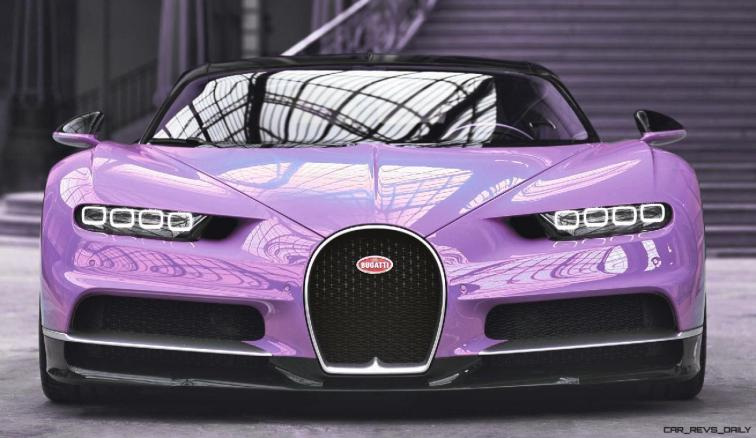 2017 Bugatti CHIRON - Color Visualizer - Draft Renderings 17