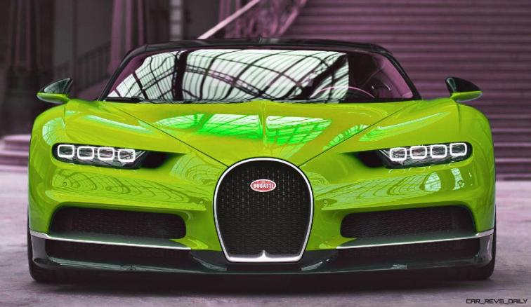 2017 Bugatti CHIRON - Color Visualizer - Draft Renderings 19