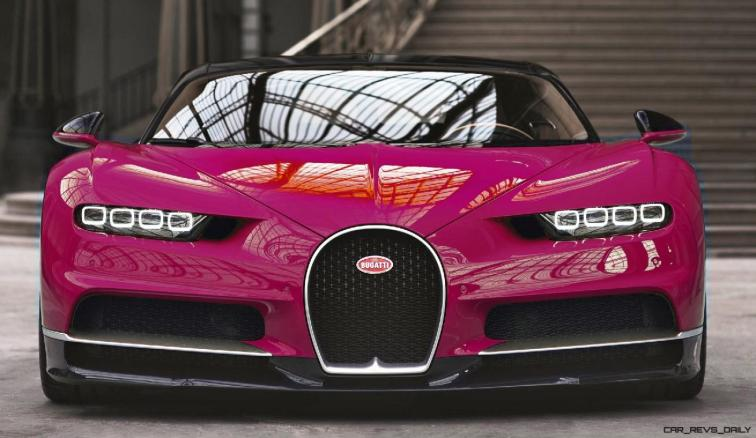 2017 Bugatti CHIRON - Color Visualizer - Draft Renderings 45