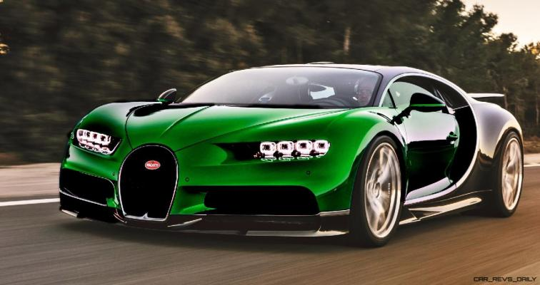 2017 Bugatti CHIRON - Color Visualizer - Draft Renderings 52