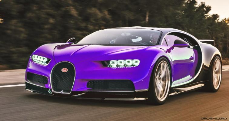 2017 Bugatti CHIRON - Color Visualizer - Draft Renderings 59