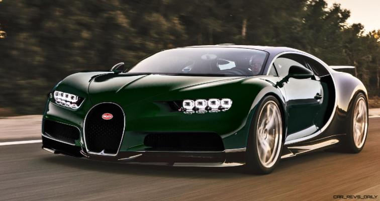 2017 Bugatti CHIRON - Color Visualizer - Draft Renderings 64