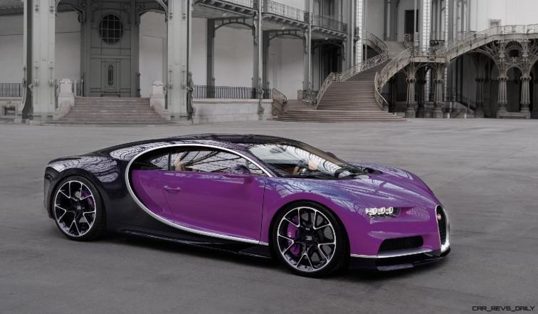 2017 Bugatti CHIRON - Color Visualizer - Draft Renderings 72