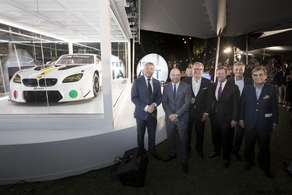 Dr. Thomas Girst, Marc Spiegler, Global Director, Art Basel, Hans-Kirstian Hoejsgaard, CEO, Davidoff, John Mathews, Head of Private Wealth Management Americas, UBS, Jens Marquardt, and Ludwig Willisch celebrated the world premiere of the 19th BMW Art Car, created by renowned American artist John Baldessari, at Art Basel in Miami Beach on Wednesday, November 30, 2016.