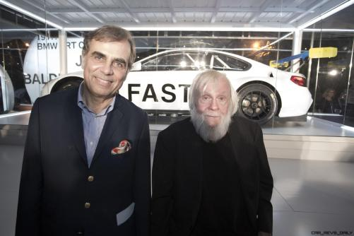 Ludwig Willisch and John Balessari celebrated the world premiere of the 19th BMW Art Car, created by renowned American artist John Baldessari, at Art Basel in Miami Beach on Wednesday, November 30, 2016.