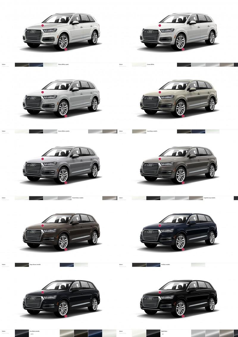 2017 Audi Q7 Colors, Wheels and Interiors 12-tile