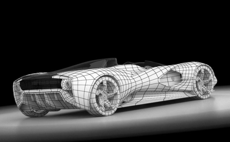 2017 Maserati MC12 Possibly Based on LaFerrari Aliante Spyder by Turin Design Students 13