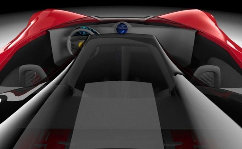 2017 Maserati MC12 Possibly Based on LaFerrari Aliante Spyder by Turin Design Students 7