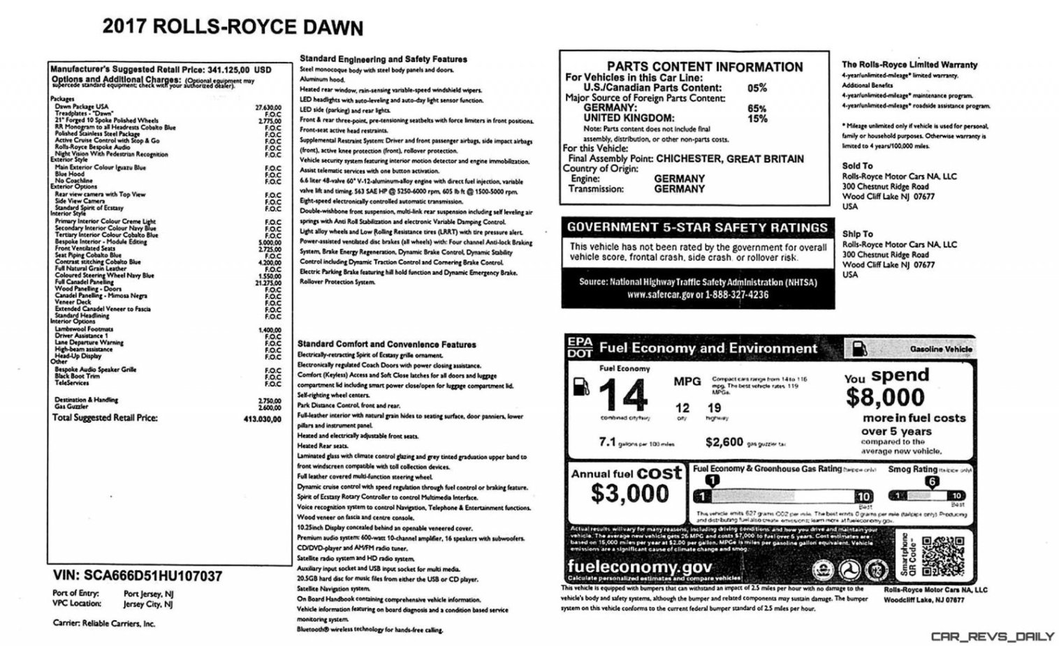 Rolls Royce Dawn INTERIORS 17