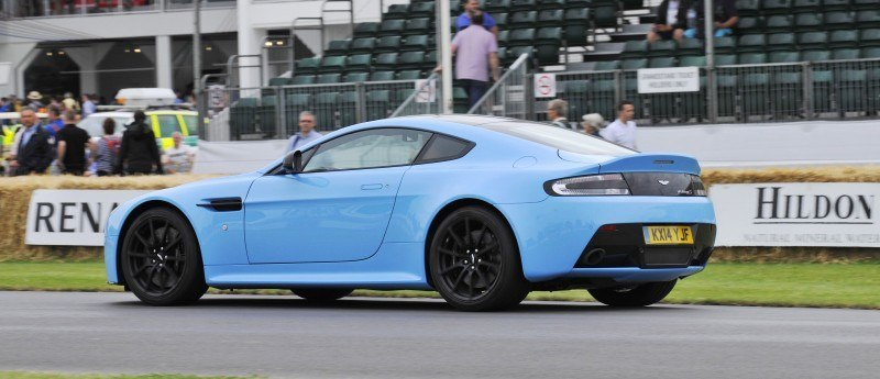 Aston Martin Zings Up Goodwood Hill (to its AMG Future) in Vantage S, Rapide S and Vanquish 11