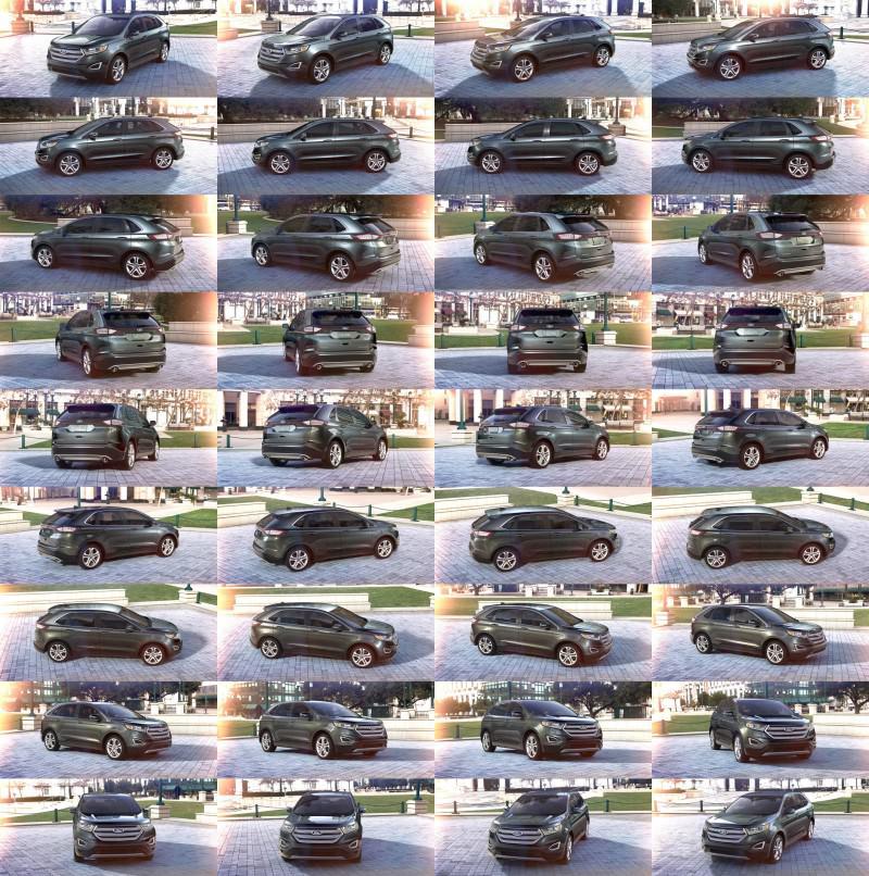 Car-Revs-Daily.com 2015 Ford Edge - Guard green 1