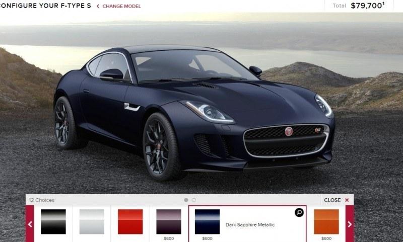 Car-Revs-Daily.com 2015 JAGUAR F-Type S Coupe - Options, Exteriors and Interior Colors Detailed29