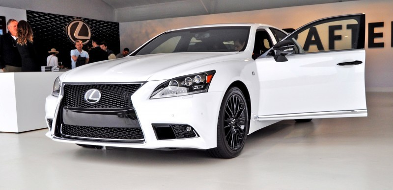 Car-Revs-Daily.com 2015 Lexus LS460 F Sport Crafted Line Is Most-Enhanced by Glossy Black and White Makeover 13