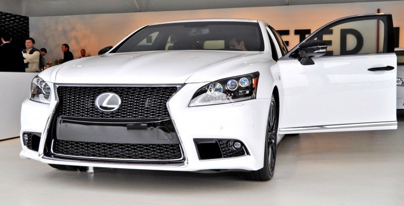 Car-Revs-Daily.com 2015 Lexus LS460 F Sport Crafted Line Is Most-Enhanced by Glossy Black and White Makeover 15