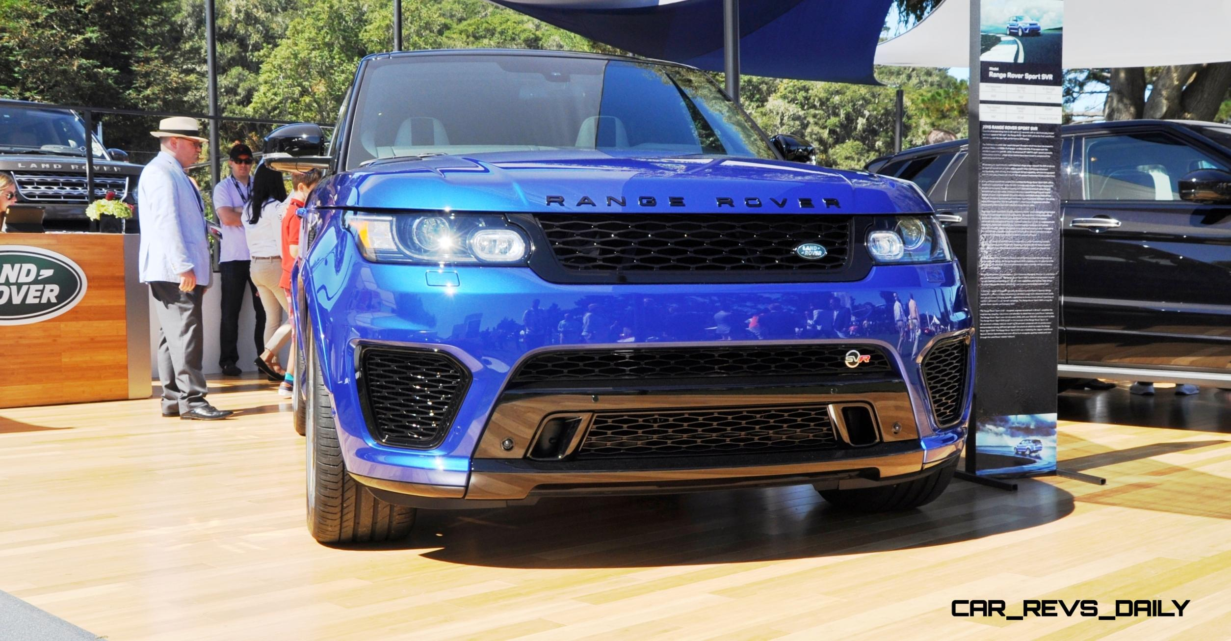 Update1 2015 Range Rover Sport SVR Makes USA Debut at Pebble