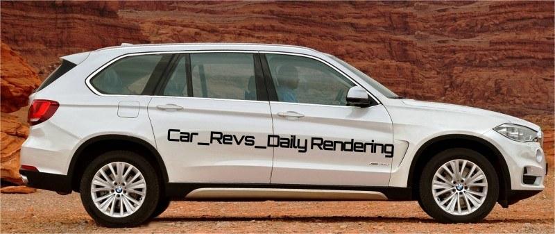 Car-Revs-Daily.com Digital Rendering of 2015 BMW X7 beside 2014 BMW X5 2