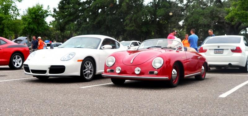 Charleston Cars and Coffee - 1955 Porsche 356 1500S Speedster 17
