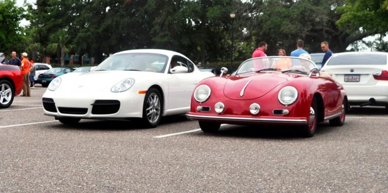 Charleston Cars and Coffee - 1955 Porsche 356 1500S Speedster 18