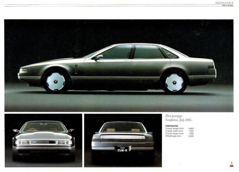 Concept Flashback - 1985 Nissan Cue-X Inspired Original Infiniti Q45 Flagship and Future Q80 3