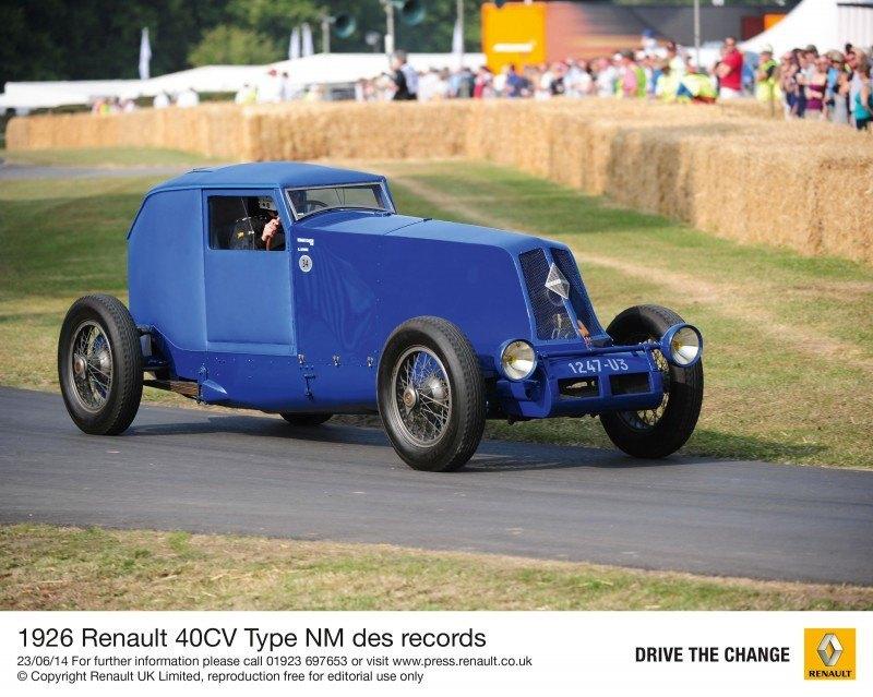 Goodwood 2014 - Renault 5 Maxi, 1926 40CV Type NM, 1965 Alpine M65, 2014 Megane RS + Clio RS 18