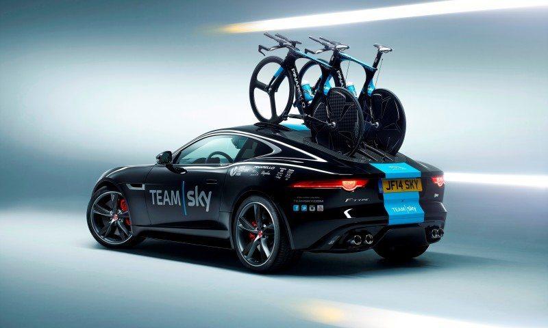 JAGUAR Special Ops F-Type R Coupe and XFR-S SportBrake for Team Sky Tour de France Cyclists 4