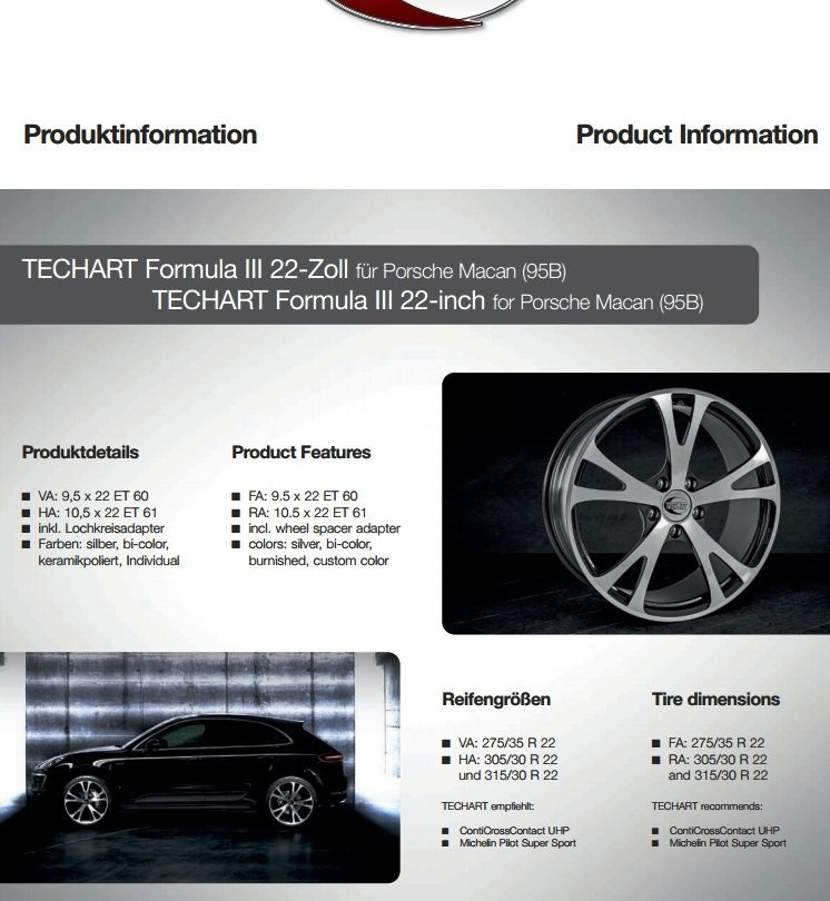 TECHART Releases First Four MACAN Wheels 8