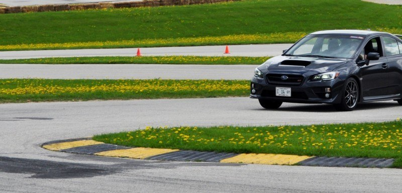 Track Test Review - 2015 Subaru WRX STI Is Brilliantly Fast, Grippy and Fun on Autocross 14