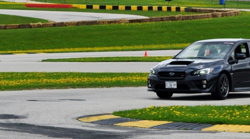 Track Test Review - 2015 Subaru WRX STI Is Brilliantly Fast, Grippy and Fun on Autocross 15