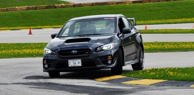 Track Test Review - 2015 Subaru WRX STI Is Brilliantly Fast, Grippy and Fun on Autocross 17
