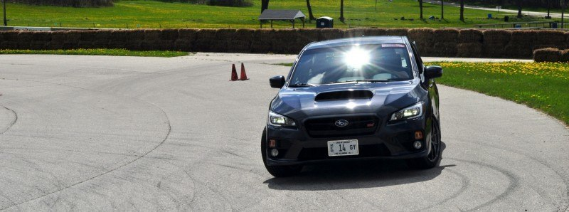 Track Test Review - 2015 Subaru WRX STI Is Brilliantly Fast, Grippy and Fun on Autocross 3